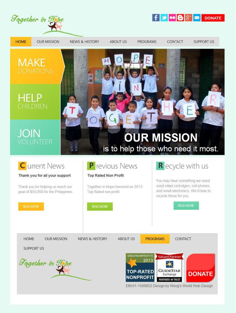Together In Hope Homepage