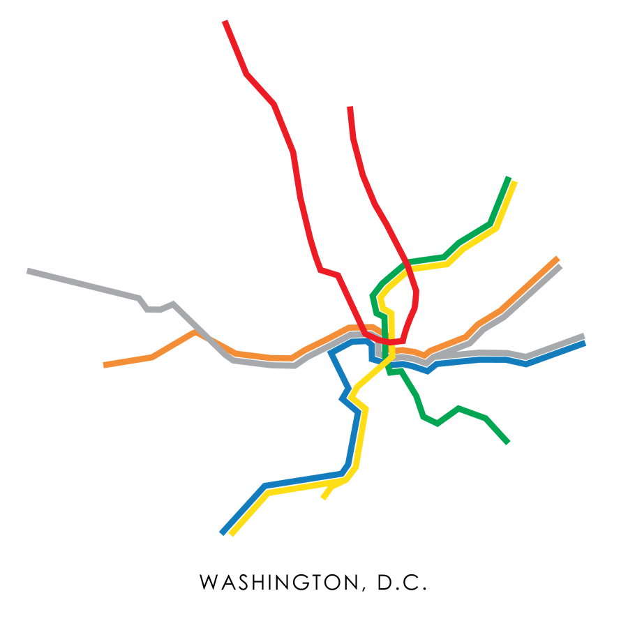 WMATA Subway Map