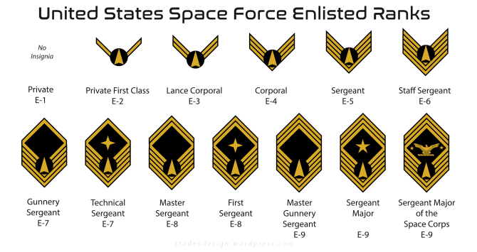 United States Space Force Enlisted Ranks - stadeodesign.com